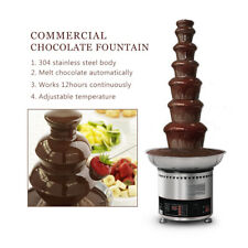 Commercial Chocolate Fountain 7 Tier Fondue Melting Machine For Party Wedding CE