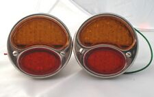 FORD 1928-31 TAIL LIGHTS & STOP LIGHT WITH BLINKER LED STAINLESS / HOT ROD*