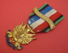 "ORIGINAL FRENCH PRUSSIAN WAR 1870-1871 GILT MEDAL& CLASP ""OUBLIER JAMAIS"""