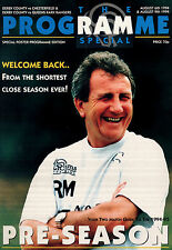 1994/95 Derby County v Chesterfield & QPR, friendlies - PERFECT CONDITION