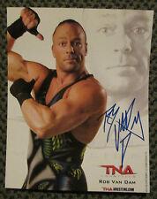 Rare Rob Van Dam Auto Signed 8 x 10 Photo Tna Wrestling Sweet