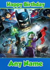 Personalised Birthday Card - Lego Batman - Childrens Boys Son Nephew Grandson