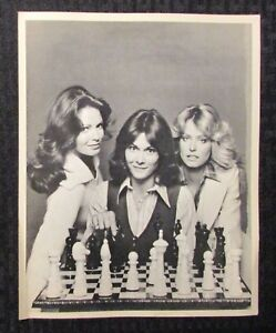 "1970's CHARLIE'S ANGELS 8x10"" Promo Photo VG+ 4.5 Farrah Fawcett, Kate Jackson"