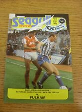29/08/1987 Brighton And Hove Albion v Fulham  (Team Changes)
