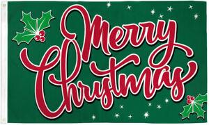 Merry Christmas Flag 3x5ft Holiday Flag Happy Xmas Christmas Sparkles