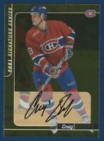 CRAIG DARBY 00-01 IN THE GAME BE A PLAYER 2001 SIGNATURE SERIES N 197 GOLD 17550
