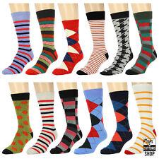 NEW! 12 Pairs Size 10-13 Men's Fashion Dress Socks Multi Color Multi Pattern