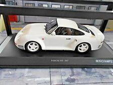 PORSCHE 959 4x4 Gr.B Coupe weiss white 1987 weisse Felgen SP Minichamps 1:18