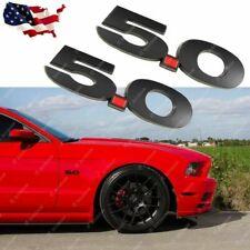 Side Fender Metal Emblems 3D Logo 5.0 Badge Decal For Ford Mustang 2011~2014