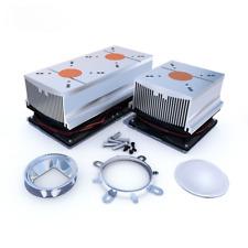 100w Led Aluminium Heatsink Cooling Fan60 90 12044mm Lens Reflector Brack