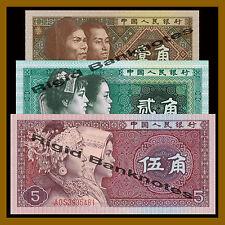 China 1 2 5 Jiao Set, 1980 P-881/882/883 Unc