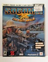 SOCOM II US Navy Seals Brady Games Official Strategy Guide Sony Playstation 2
