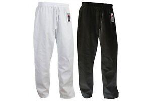 Cimac Adult Karate Trousers Gi Pants White Black Aikido Martial Arts Mens Ladies