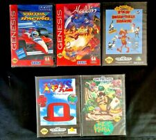 Vintage Sega Genesis Game Cartridge Lot Of 5 In Case With Manual  Virtua Racing