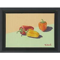 Chili Trio -Original Acrylic Painting on Canvas- Still Life - Food Art