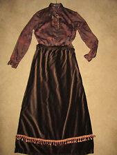 1900s VICTORIAN Edwardian costume size 10/12 Titanic Music Man top  brown skirt