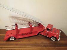 Buddy L Fire Truck BLFD #3 Aerial Ladder Pressed Steel 100% Original