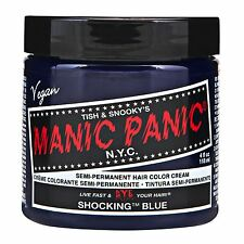 2 X Hair Dye Manic Panic Classic Cream Shocking Blue With Gloves