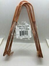 """1 Pack 5 per pack 3/4"""" x 6"""" Copper Plated Steel Wire Pipe Hook FREE SHIPPING"""