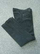PAPER DENIM & CLOTH Black Flat Zip Front Solid Cotton Corduroy Pants Sz 4 FF2972