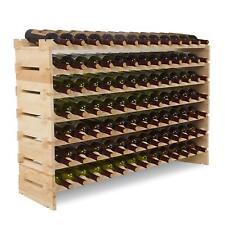Mecor Wine Rack Storage Holder Stackable Display Shelves Solid Wood