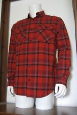 M Men Burton Brighton Bitters Hawthorne Long Sleeve Flannel Shirt Red Plaid NWT