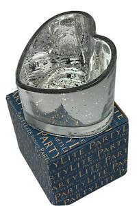 Partylite Warm Hearts Silver Tea Light Holder Retired Brand New In Box