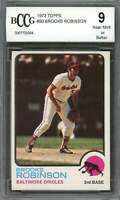1973 topps #90 BROOKS ROBINSON baltimore orioles BGS BCCG 9