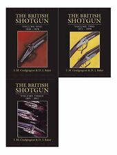 CRUDGINGTON SHOTGUNS BOOK BRITISH SHOTGUN SET OF 3 VOLUMES hardbacks BARGAIN new