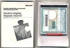 Software SOLUZIONI INTEGRATE MICROSOFT WORD 97 Windows Office 95 98 NUOVO Pc