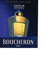 PUBLICITE ADVERTISING  2000   BOUCHERON  parfum homme JAIPUR