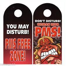 PMS Door Knob Hanger Decoration Funny Novelty Prank Joke Gag Gift