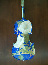 Hand painted, Unique Violin.  Jimson Weed, Moon Flower by Margaret Aycock
