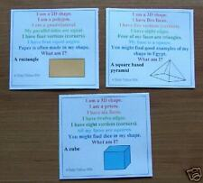 2D-3D SHAPE WHAT AM I  21 CARDS -Teacher Resource MATHS