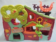 "2007 Littlest Pet Shop Purple Club Tree House Playset 13"" w/ swing"