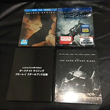 Batman Begins Dark Knight + Rises Blu-ray Steelbook | CA+Japan exclusive | Nolan