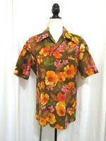 Vintage 1950s Barkcloth Men's Polynesian Shirt Size M Kimo's Polynesian Shop