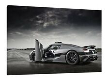 Koenigsegg Agera RS - 30x20 Inch Canvas Framed Picture Print Wall Art Supercar