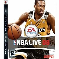 NBA Live 08 For PlayStation 3 PS3 Basketball With Manual And Case Very Good 0E