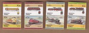 1985 Tuvalu - NUKUFETAU Trains Set of 8 Stamps SG Appendix MUH