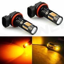 JDM ASTAR 2x 1200LM Amber Yellow H11 H8 H9 LED Bulbs Driving Fog Light Lamps 12V