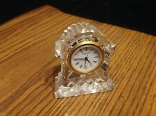 """Waterford Crystal Quartz Mantel Clock, etched Ireland Waterford, 3"""" tall"""