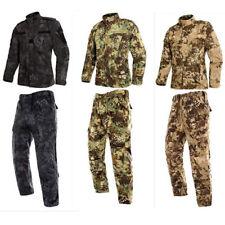 Men's Military BDU Tactical Uniform Shirt Pants Hunting Airsoft Suit Set Kryptek