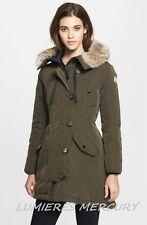 $2065 MONCLER ARRICO AREDHEL Genuine Coyote Fur DOWN PARKA COAT ANORAK sz 4