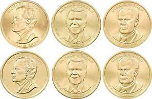 2016 P&D Presidential Dollar 6 Coin Set BU Uncirculated Mint State $1