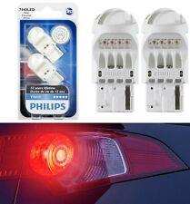 Philips Vision LED Light 7440 Rouge Red Two Bulbs Stop Brake Tail Upgrade Lamp