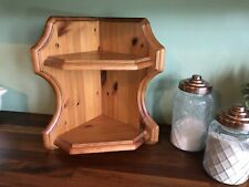 Corner Shelf Pine Country Vintage Solid Rustic Ornate  WALL MOUNTED FREESTANDING