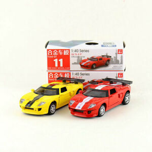 1:40 Scale Alloy Pull-back Vehicle Ford GT Racing car Sports Car Children's Toys