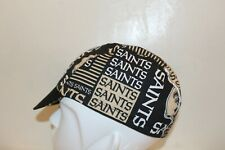 CYCLING CAP NFL NEW ORLEANS SAINTS    100% COTTON HANDMADE IN USA S/M/L