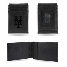 New York NY Mets MLB Laser Engraved Black Front Pocket Wallet/Money Clip